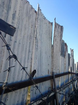 Barbed wire fence Varosha Cyprus